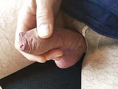 Foreskin and tan pantyhose