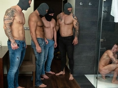 BDSM gang-bang with Tomm, Luke, Rudy Valentino, Jerome, Roman