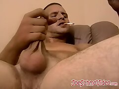 Amateur jock takes his cock and jerks off really hard here