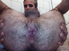 See his Hairy Hole