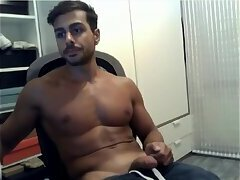 Indian Studs Jerking off to WebCam  Indian boy Solo Masturbation