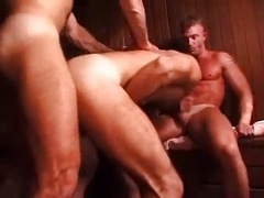Hot three-way in Sauna