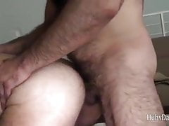 Gay Sex : Bald mature Bear (Bareback)