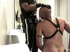 LEATHER COP tormentor 01 - jizm FEEDS HIS victim AT HOTEL