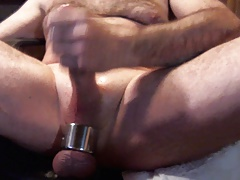 stroking with my glans ring and scrotum stretcher