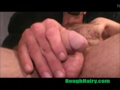 Handome Hairy Redneck Daddy stroking
