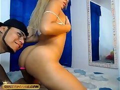 Sexy tranny's ass live show on Queerscams.com