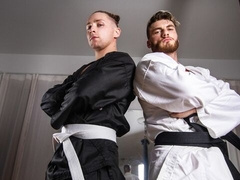 Ninja-themed anal scene with William Seed and Calvin Banks