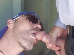 Public cum sucking