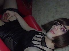 Sissy Faggot Life: Jerking Clit in Pornokino Adult Theater