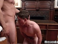 Young Mormon twink hammered up the ass and cum sprayed