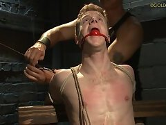 Blond Guy Bondage Play