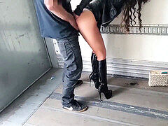 Street call girl forever...in high stilettos and leather