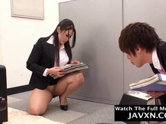 Very Hot Japanese Housewife Office Bitch - big male stick