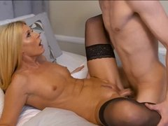 Milf India Summer seduces her son's friend to bang her mature cunt