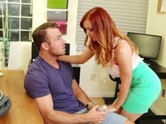 Dani Jensen gets her pussy drilled by delivery guy's hard cock at her office