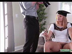 Hot And Thick High School teen Kendall Kross Has fuckfest With Her Uncle While He Takes Graduation photos