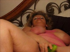 Sizeable hoe having an intercourse cucumber