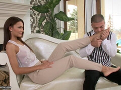 Rich and spoiled girl Alexis Brill foot fetish