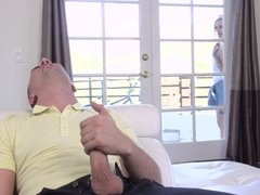 Peeping tomboy Alex Gray getting all holes filled