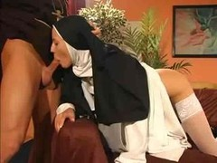 Juicy fuck hole nun backdoor fucked by the priest