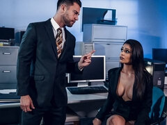 Two brunettes Jane Wilde and Katana Kombat fucked by the boss