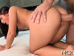 Large curves excite dude, so he begins fucking our babe hard