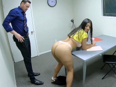 Violet Myers gets her big ass and tits worshipped