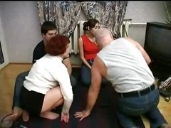 Family Having an intercourse In Foursome