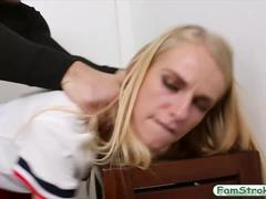 Blonde cheerleader gets fucked by her horny stepbrother