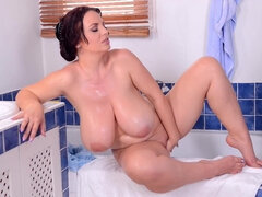 huge honkers in the bathroom - joanna