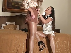Sexy Babes Show Off In So Sexy Suntan Tights