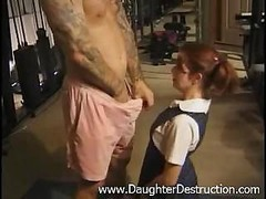 Youthful daughter brutally hatefucked by daddy