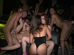Gals getting wild in the club