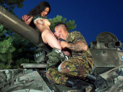 Rae Lil Black gets her pussy licked on the T-55