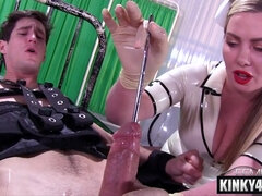 Big breast nurse femdom and ejaculate