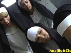 Domina nun dildo asshole