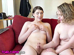 Zoey and Ryan femboy couple nailing on webcam