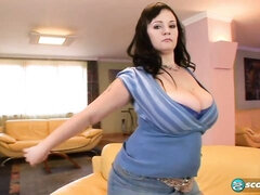 Sensual MILF with big boobs Denisa stimulates her hungry hole