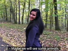 Girlfriends Public pussy eating woodland walk