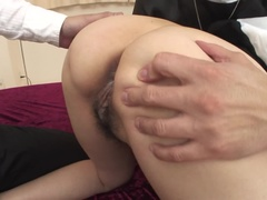 Adorable Hitomi Kanou is pleased to have a hard anal fucking