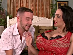 Horny Milf Amy Anderssen with very big boobs