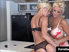 Office cocksluts Puma Swede & Bobbi Eden slurp Sweet CoWorker slit