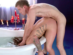 Karmen Karma got some light choking while getting fucked