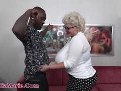 Casting Couch Audition For BBC Stud - interracial with monster boobs mature Claudia marie