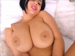 VOLUPTUOUS Perfect Gal with HUGE NATURAL BOOBS Orgasms on Webcam