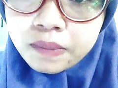 indonesian muslim girl  idda fingering office washroom-P2