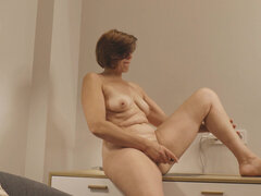 Lusty mom Eleanor moaning in delight