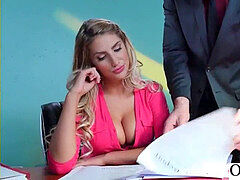 rock-hard hump With Big Round Tits Nasty Office gal (August Ames) video-02