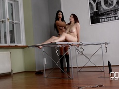 French Dominatrix Spanking Spanish Bondage Submissive, Part 2